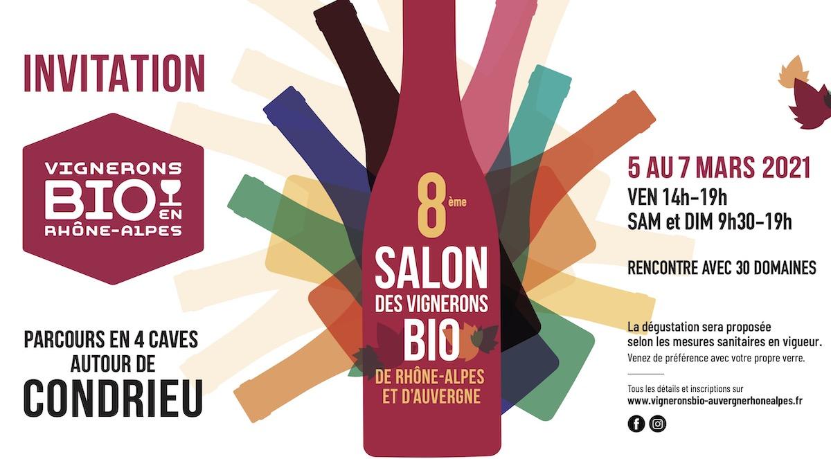 invitation salon vignerons bio aura 2021